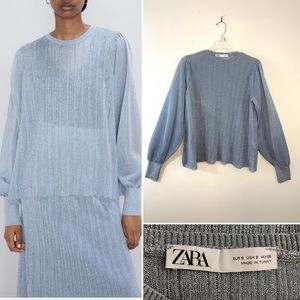 Zara sparkly knit blouse. Size S